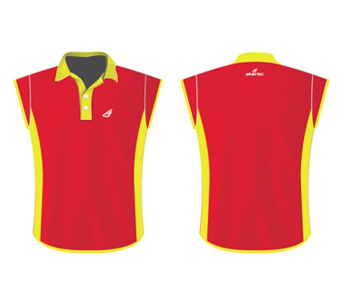 Wholesale Vibrant Red Polo tee