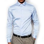 Plain Light Blue Full Sleeve Shirt