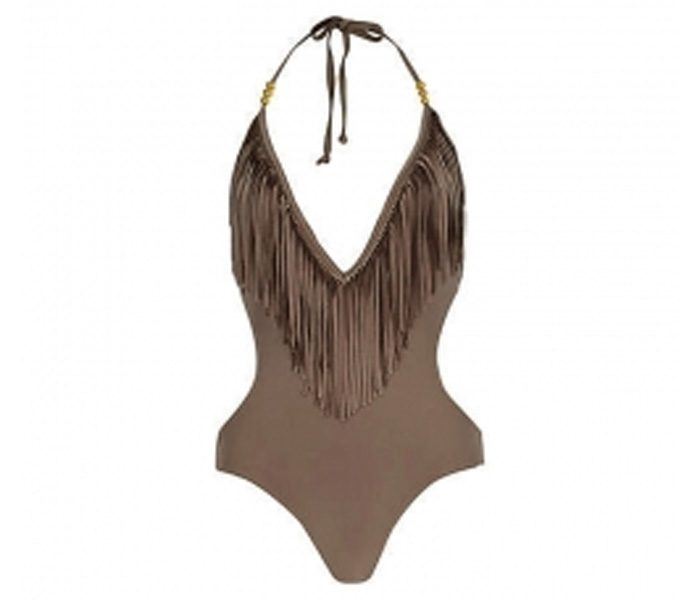 Beige Halter-neck Swimwear in UK and Australia