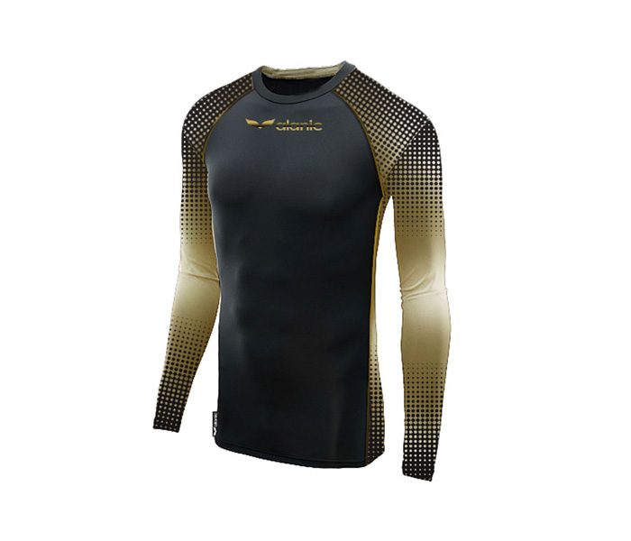 Wholesale Black and Golden Compression Tee in USA