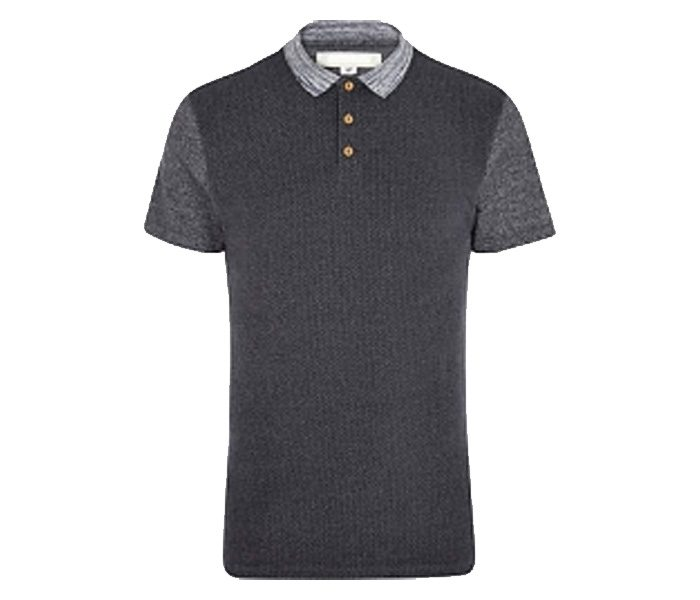 Black and Grey Collar Half Sleeve Polo t shirt in UK and Australia