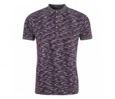 Black and Grey Print Polo T Shirt in UK and Australia