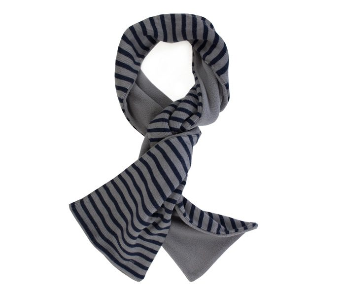 Black and Grey Stripe Winter Scarf in UK and Australia