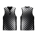 Black and white dotted Australian Football singlet in UK and Australia