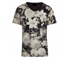 Black and White Floral Print Tee in UK and Australia