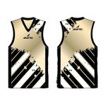 Black and white printed Australian Football singlet in UK and Australia