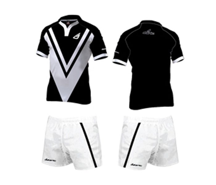 Black and White Rugby Jersey Set in UK and Australia