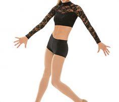 Black Lace Contemporary Dance Costume in UK and Australia