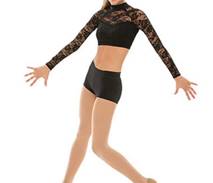 Black Lace Contemporary Dance Costume in UK and Australia
