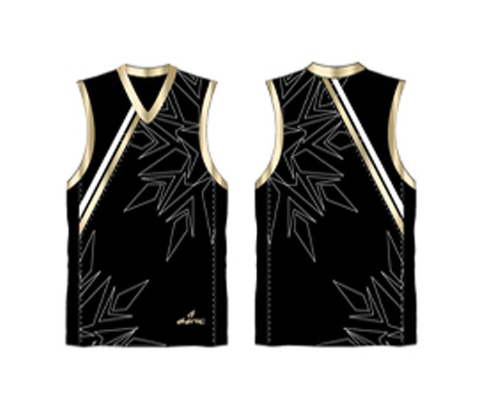 Black printed Australian Football singlet in UK and Australia