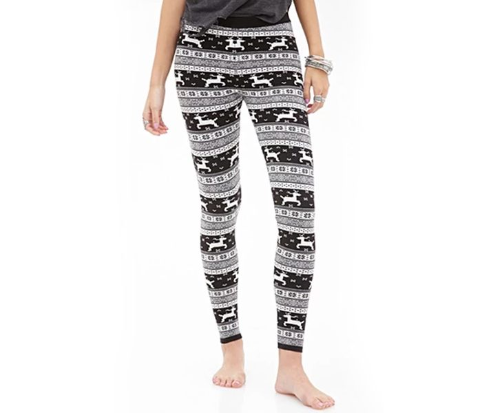Black Printed Leggings in UK and Australia