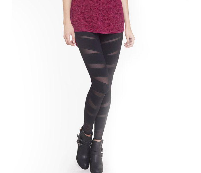 d6ec11cd524409 Black Sheer Bandage Leggings Manufacturer in USA, Australia, Canada ...