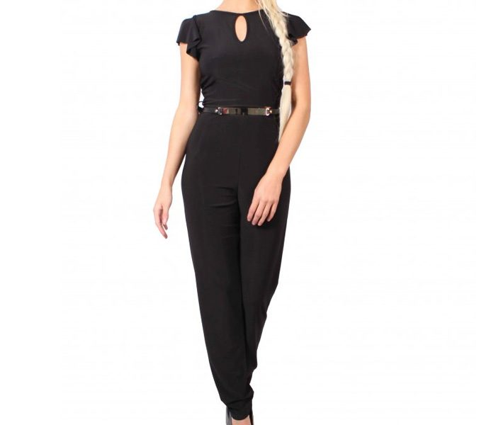Black Short Sleeve Jumpsuit in UK and Australia