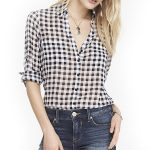 Black & White Checked Sheer Shirt in UK and Australia