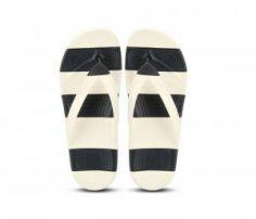 Black & White Strapped Flip Flops in UK and Australia