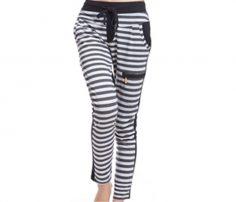 Black & White Striped Relaxed Leggings in UK and Australia