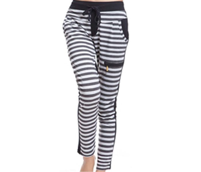 Black & White Striped Relaxed Leggings in UK and Australia