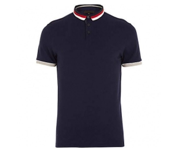 Black with Designer Collar Polo T Shirt in UK and Australia