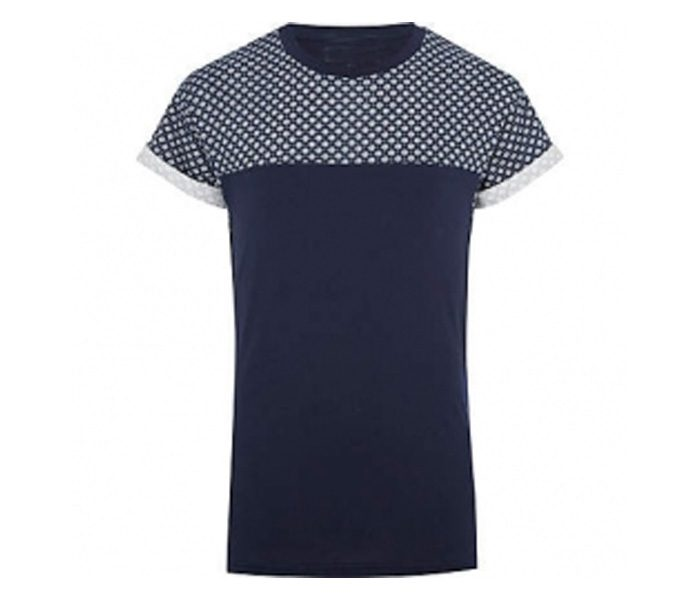 Black with Spot Print Panel Tee in UK and Australia