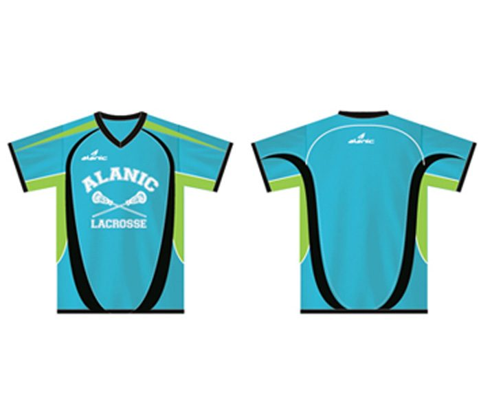 Blue and Green Lacrosse Tee in UK and Australia