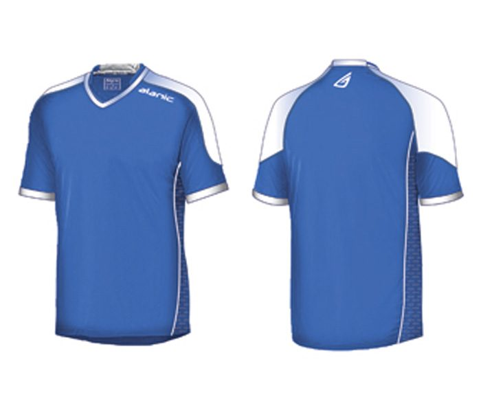 Blue and White Soccer Tee in UK and Australia