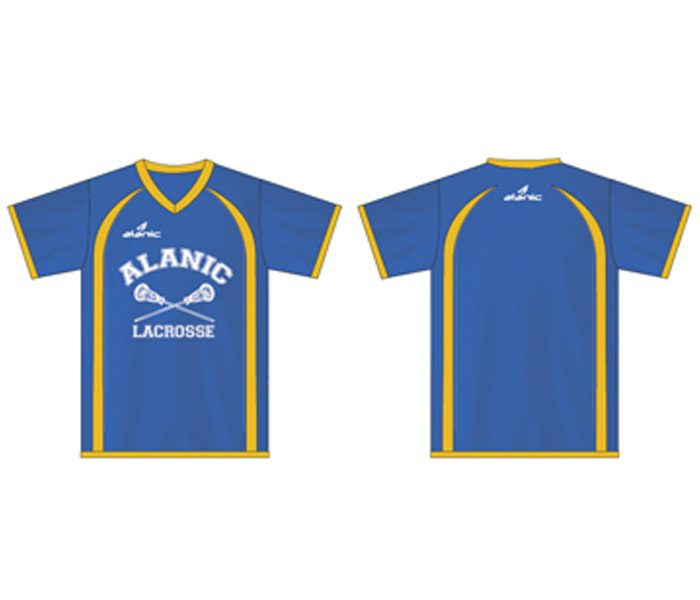 Blue and Yellow Lacrosse Tee in UK and Australia