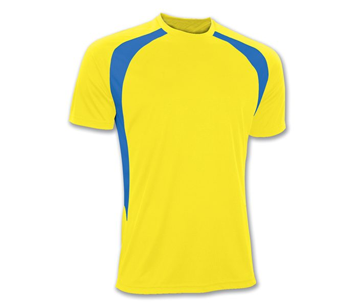 Blue and Yellow Soccer Tee in UK and Australia