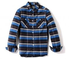 Blue, Black with White Stripe Shirt in UK and Australia