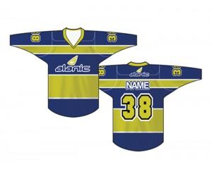 Blue & Olive Ice Hockey T Shirt in UK and Australia