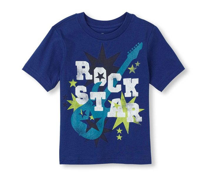Blue Rock Star Printed T Shirt in UK and Australia