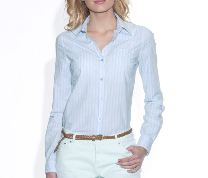 Blue Self Striped Shirt UK and Australia