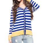 Blue Striped Cardigan in UK and Australia