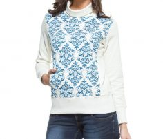 Blue & White Printed Sweater in UK and Australia