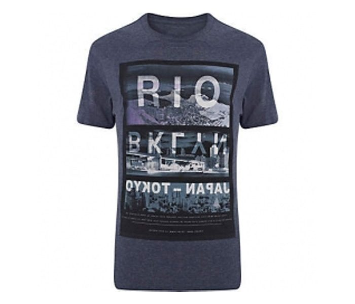 Bluish Grey with Reflective Print Tee in UK and Australia