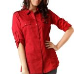 Bold Red Structured Shirt in UK and Australia