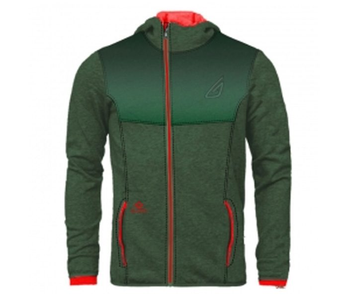 Wholesale Bottle Green and Red Designer Hoodie in USA