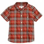 Brick Hued Half Sleeve Check Shirt in UK and Australia