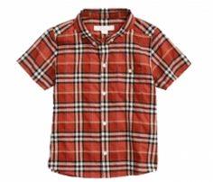 Brick Hued Half Sleeve Check Shirt in UK and Australia