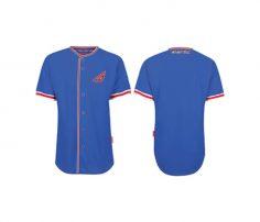 Wholesale Bright Blue Baseball Shirt in USA