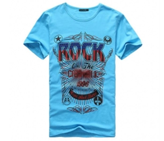 Bright Blue Print Tee in UK and Australia