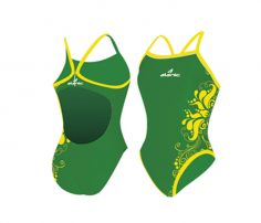Bright Green & Yellow Swimsuit in UK and Australia
