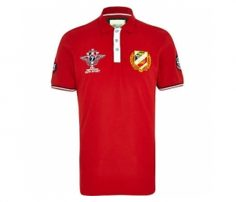 Bright Red with Emblem Polo T Shirt in UK and Australia