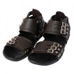 Brown and Black Casual Sandal