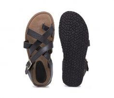 Brown Crisscross Flip Flops in UK and Australia