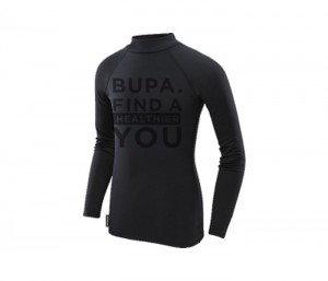 BUPA FIT Black Tee in UK and Australia