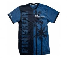 Casual Blue and Black Print Polo T Shirt in UK and Australia