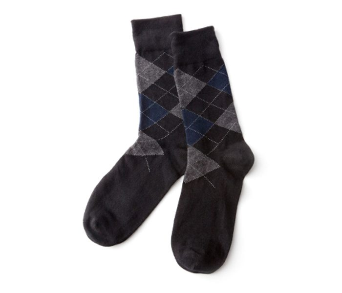Casual Box Print Black and Grey Socks in UK and Australia