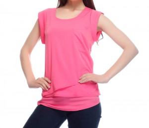 Casual Pink Structured Top in UK and Australia