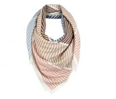 Casual White Striped Scarf in UK and Australia