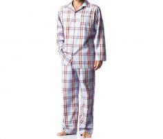 Check printed men's sleepwear in UK and Australia